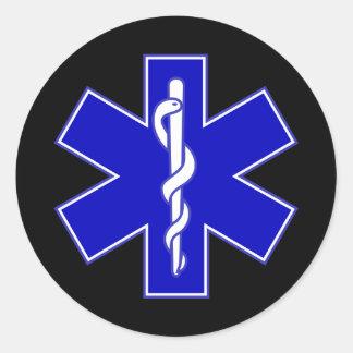 Ster EMT van het levenssticker Ronde Sticker