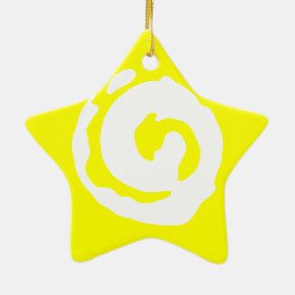 Ster met Symbool Koru Keramisch Ster Ornament