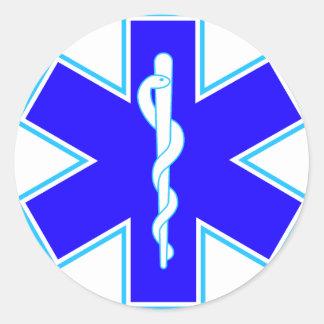 Ster van het Leven (ziekenwagen) Ronde Sticker