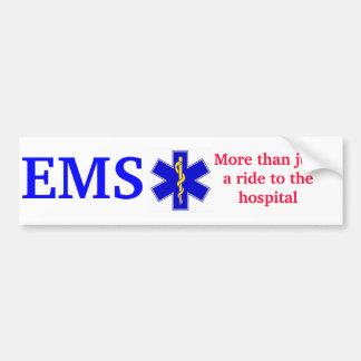 Ster-van-leven-goud, EMS, meer dan justarit aan… Bumpersticker