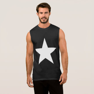 Ster (+w)/Katoenen van het Mannen UltraMouwloos T Shirt