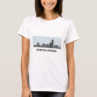 Sterk Boston - de Horizon van Boston als grafiek - T Shirt