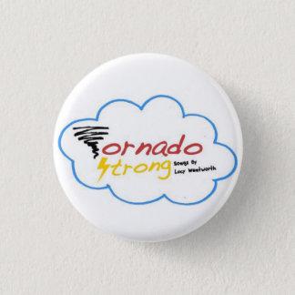 Sterk het logokenteken van de tornado ronde button 3,2 cm