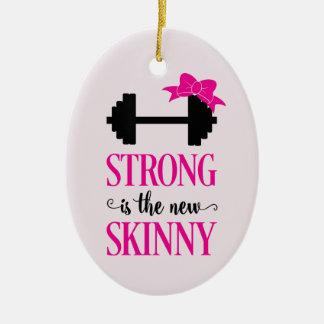 Sterk is Nieuwe Mager (gewichten) Keramisch Ovaal Ornament