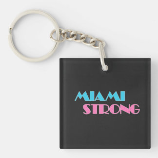 Sterke zwarte keychain van Miami Sleutelhanger