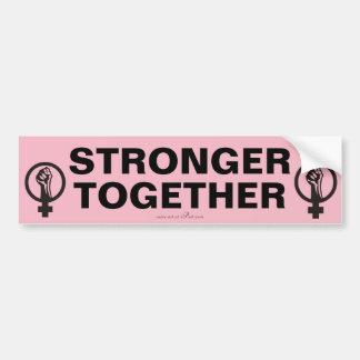 STERKER SAMEN, de slogan van Maart van Vrouwen Bumpersticker