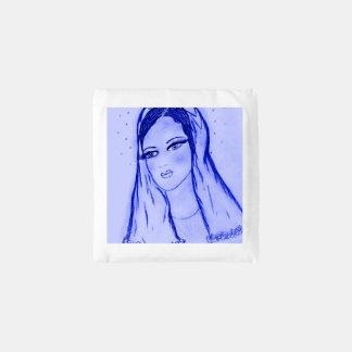 Sterrelicht Mary - Blauw - Herbruikbare Tas