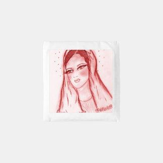 Sterrelicht Mary in Rood Herbruikbare Tas