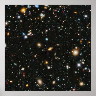 Sterren in Ruimte - ultra Diep Gebied Hubble Poster