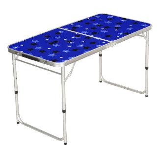 Sterren in zwarte en blauwe Lijst Beer Pong Tafel