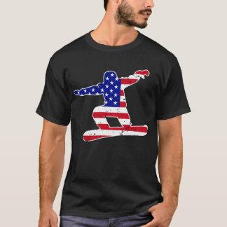 Sterren `n' Strepen SNOWBOARDER (wht) T Shirt