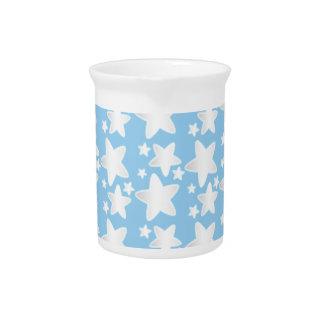 Sterren op blauw pitchers