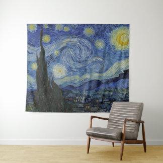 Sterrige het Fijne Art. van Vincent van Gogh Wandkleed