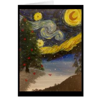 Sterrige Kerstnacht Briefkaarten 0