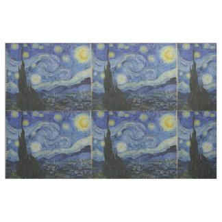 Sterrige Nacht Betegeld Vincent van Gogh Stof