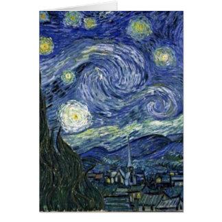 Sterrige Nacht door Van Gogh Kaart