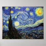 Sterrige Nacht door Vincent van Gogh 1889 Poster