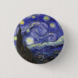 Sterrige Nacht door Vincent van Gogh Ronde Button 3,2 Cm