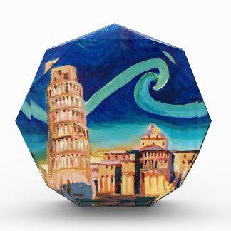 Sterrige Nacht in Pisa met Leunende Toren Acryl Prijs