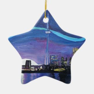 Sterrige Nacht in Toronto met Van Gogh Keramisch Ster Ornament