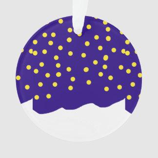 Sterrige Nacht op blauw met sneeuwbank XMAS24 Ornament