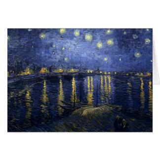 Sterrige Nacht over de Rhône Briefkaarten 0