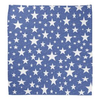 Sterrige Sterrige Nacht Blauwe Bandana