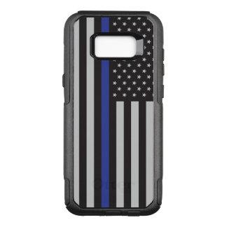 Steun de Amerikaanse Vlag van Blue Line van de OtterBox Commuter Samsung Galaxy S8+ Hoesje