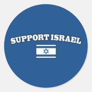 Steun Israël met Vlag Ronde Sticker