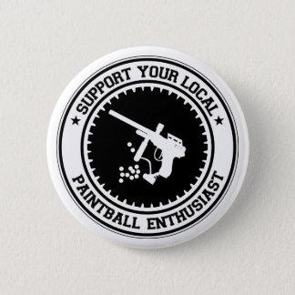 Steun Uw Lokale Enthousiast Paintball Ronde Button 5,7 Cm