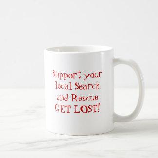 Steun uw lokale Onderzoek en Redding Koffiemok
