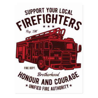 Steun uw lokale Vechters van de Brand Briefkaart