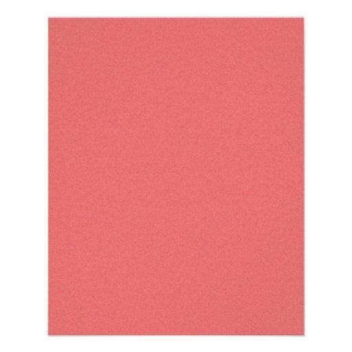 Stevig donker van de kleur van het koraal behang flyer 11 4 x 14 2 cm zazzle - Kleur van meisjeskamers ...