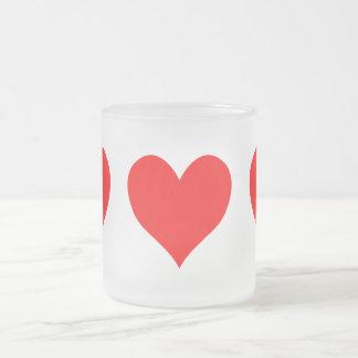 Stevig Helder Rood Leuk Hart Matglas Koffiemok