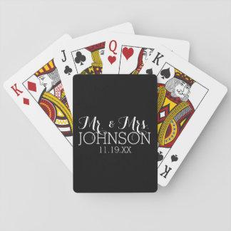 Stevige Zwarte M. & Mevr. Wedding Favors van de Pokerkaarten
