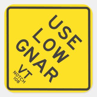 """Sticker """"gebruik Lage Gnar"""""""