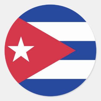 Sticker met Vlag van Cuba