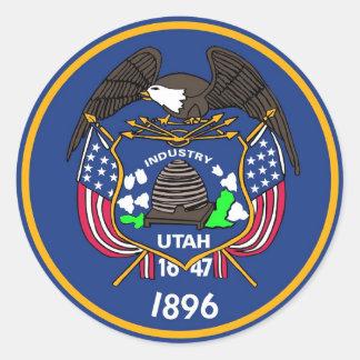 Sticker met Vlag van Utah