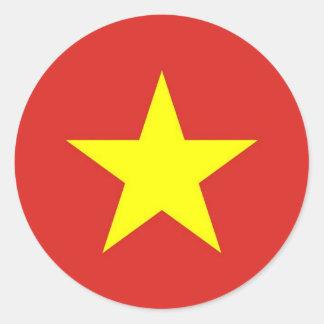 Sticker met Vlag van Vietnam