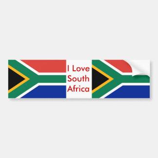 Sticker met Vlag van Zuid-Afrika Bumpersticker