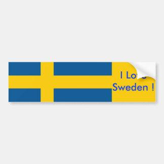 Sticker met Vlag van Zweden