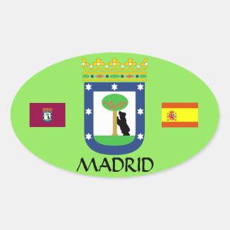 Sticker van CREST van Madrid Spanje de euro-Ovale