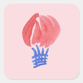 Sticker van de Ballon van de lucht de Grote