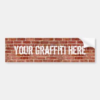 Sticker van de Bumper Graffiti van de Bakstenen mu