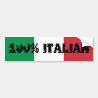 Sticker van de Bumper van 100% de Italiaanse