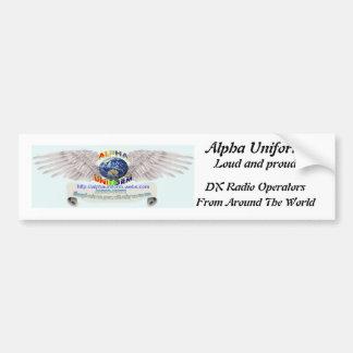 Sticker van de Bumper van Au de Luide Trotse