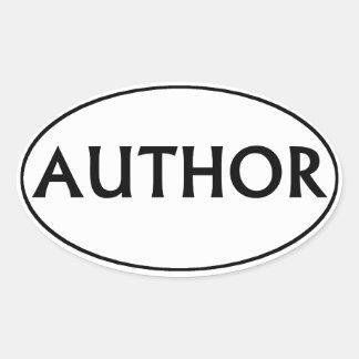 Sticker van de Bumper van de auteur de Ovale
