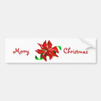 Sticker van de Bumper van de Bloem van Kerstmis de Bumpersticker