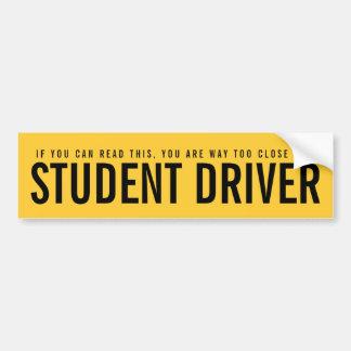 Sticker van de Bumper van de leerling-automobilist
