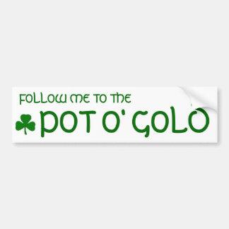 Sticker van de Bumper van de pot o de Gouden